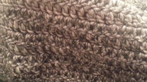 Rowan Drift scarf up close and personal.